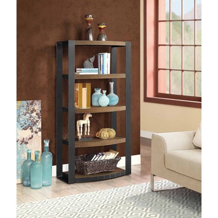 Santa Fe 5-Shelf Tower, Brown