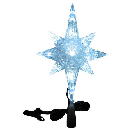 Northlight 11 in. LED Crystal Bethlehem Star Christmas Tree Topper
