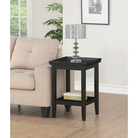 Convenience Concepts Ledgewood End Table (Black Wood End Tables)