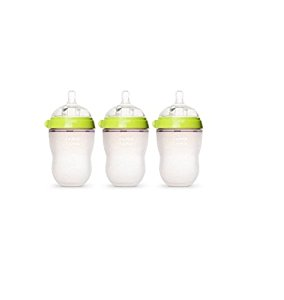 Comotomo Natural Feel 8 Ounce Baby Bottle 3 Pack - Green