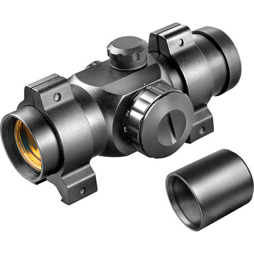 Barska 25mm Red Dot Riflescope, (30mm Tube) with 5/8'' Dovetail .22 Rings and Extension Tube
