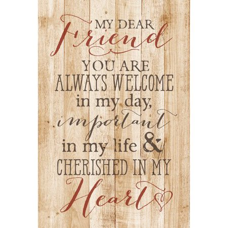 Dexsa ''My Dear Friend '' Textual Art Plaque - Friends Address Plaque