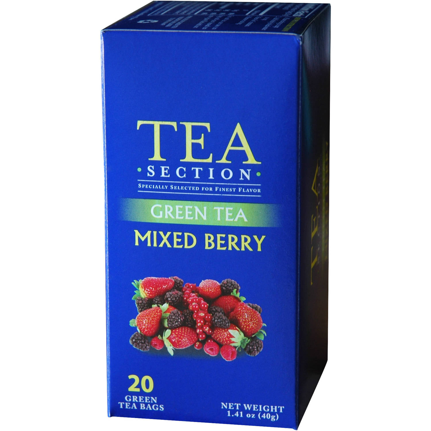 Tea Section Mixed Berry Green Tea Bags, 20 count, 1.41 oz