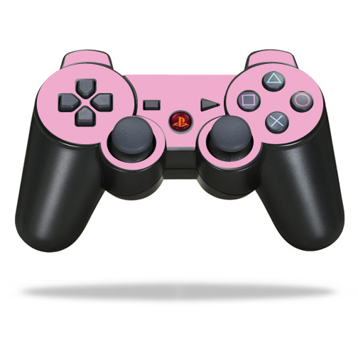 Protective Vinyl Skin Decal Cover for Sony PlayStation 3 PS3 Controller wrap sticker skins Solid Pink