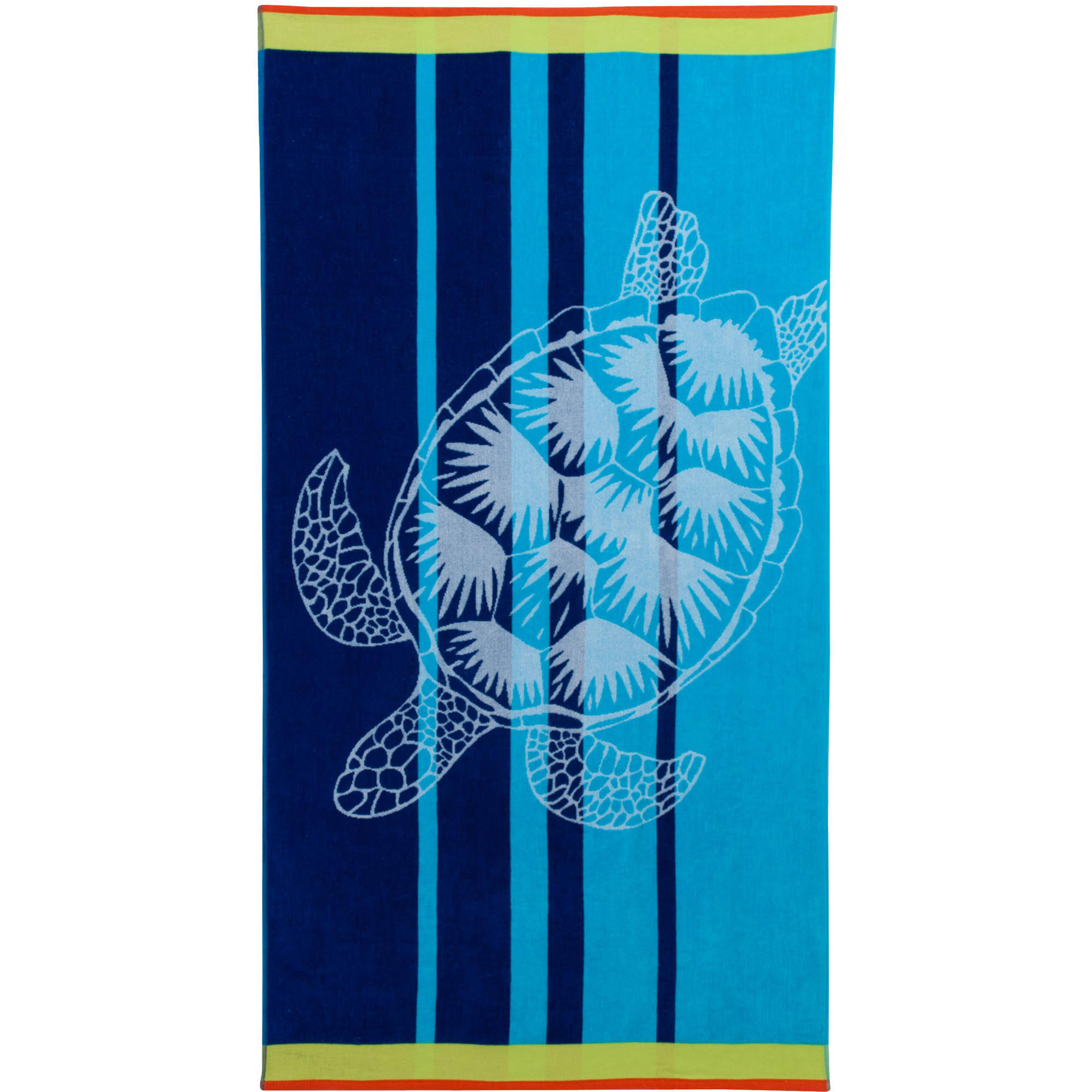 Mainstays Oversized Beach Towel, Blue Turtle, Pack of 2