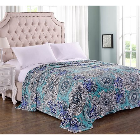 - Lush Elegance King Size Extra Soft Modern Art Microplush Blanket (102