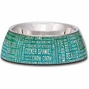 Loving Pets Milano Breeds of the World Dog Bowl, Medium