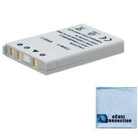 EN-EL5 Battery for Nikon Coolpix P6000, P80, P90, P100, P500, P510, P520, S10 & more Cameras + eCostConnection Microfiber Cloth
