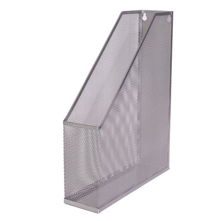 - Ybm Home Silver Mesh Steel Wall mount Hanging or Desktop Magazine Document Letter Mail File Holder 12 In. H x 10 In. L x 3 In. W