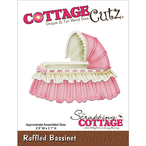 "CottageCutz Die, 2.5"" x 2.1"", Ruffled Bassinet"