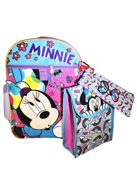 45ee7ececd Product Image Disney Minnie Mouse Girl Backpack and Lunch Bag - 5pc School  Essentials Set