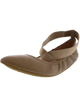 Taryn Rose Women's Edina Sheep Nappa Leather Taupe Flat Shoe - 11M