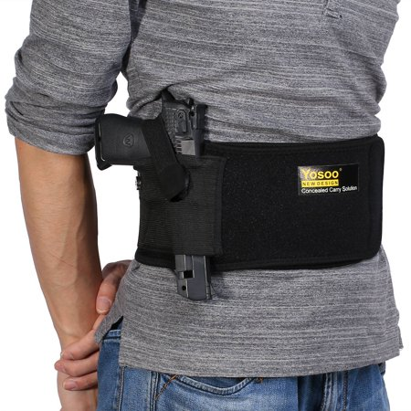 Knifun Belly Band Hand  Holster - Abdomen Holster - Cross Draw -  - Any Clothing - Right or Left Hand - Men or Woman