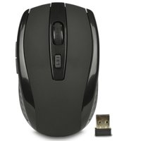 iMicro MO-WA200 2.4GHz 6 Button Wireless USB Optical Scroll Gaming Mouse - Black