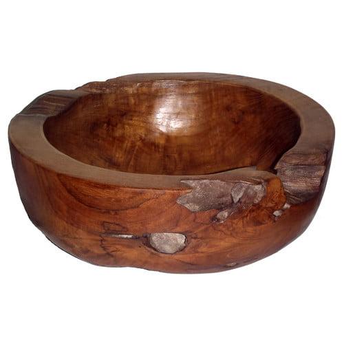 Bamboo54 Teak Large Round Decorative Bowl by Bamboo54
