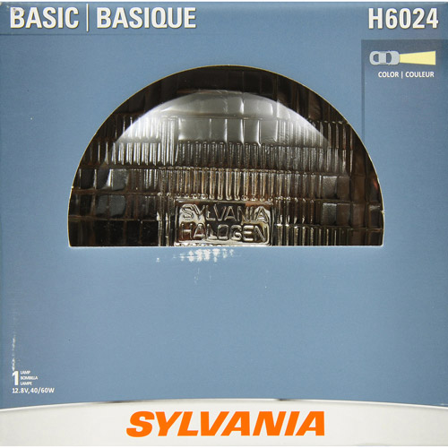 Sylvania H6024 Basic Headlight, Contains 1 Bulb