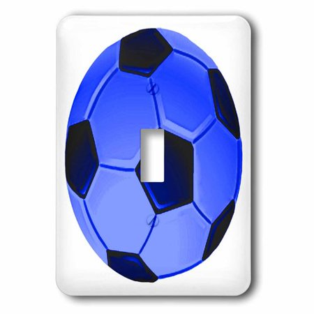 3dRose Soccer Ball in Blue Design Print, Single Toggle Switch