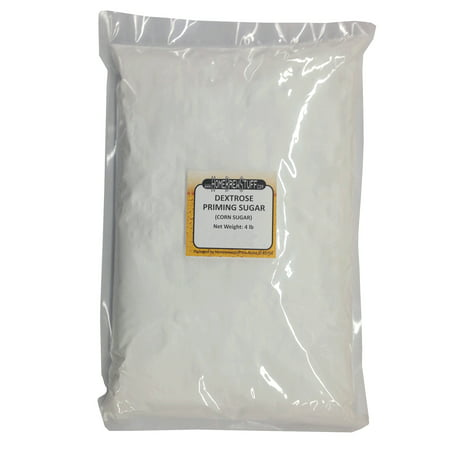 PRIMING SUGAR 4 Lbs Corn Sugar Dextrose Fermentable Adjunct Homebrew beer making ()