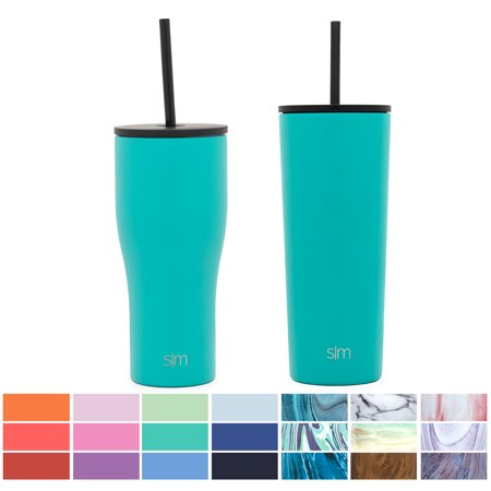 Simple Modern 20oz Journey Tumbler with Straw - Vacuum Insulated Travel Mug Flask 18/8 Stainless Steel Hydro Thermos Cup - Emerald Nissan Stainless Steel Travel Mug