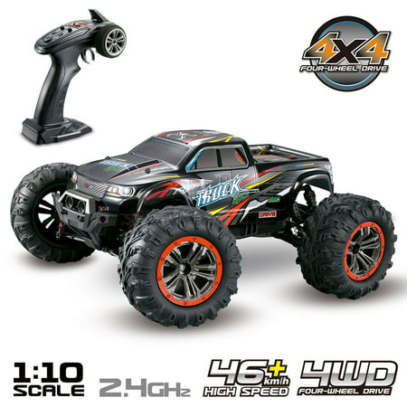 Hosim Large 1:10 Scale High Speed 46km/h 4WD 2.4Ghz Remote Control Truck 9125,Radio Controlled Off-road RC Car Electronic Monster Truck R/C RTR Hobby Grade Cross-country Car