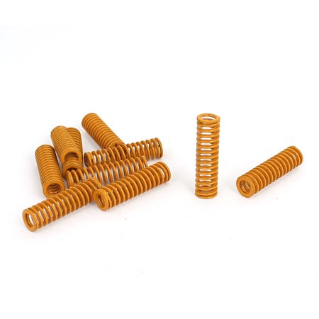 3 Mm Spring - 8mm OD 30mm Long Light Load Stamping Compression Mould Die Spring Yellow 10pcs