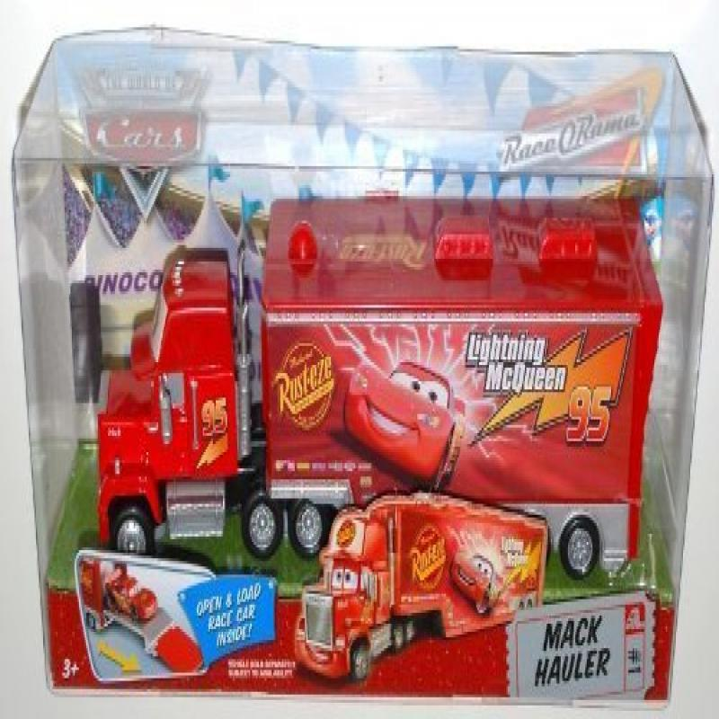 Red Mack Hauler Disney Pixar Cars 1:55 Scale Mattel Race O Rama Edition by
