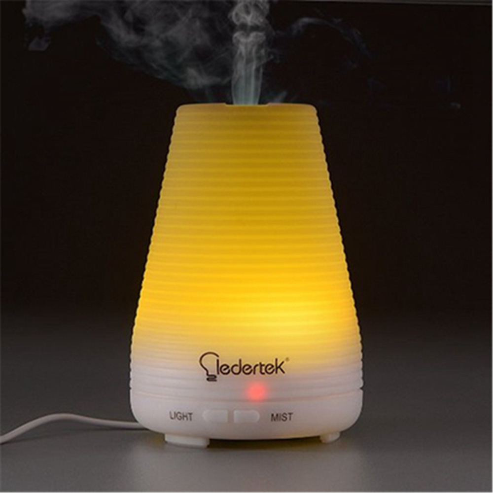 Qedertek 100ml Ultrasonic Aromatherapy Essential Oil Diffuser Portable Aroma Humidifier With 7 Colors