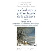 Les fondements philosophiques de la tolérance. Tome 3 - eBook