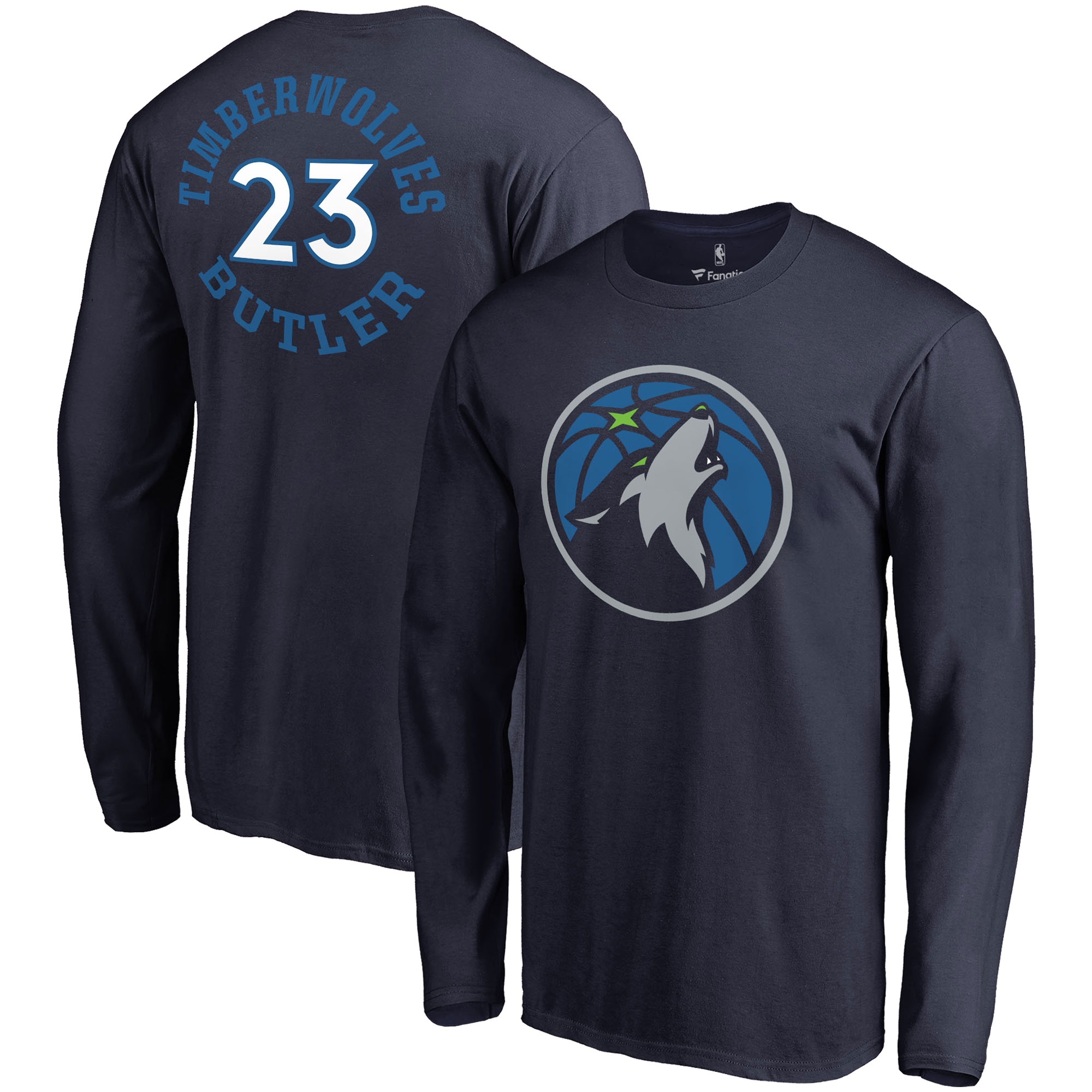 Jimmy Butler Minnesota Timberwolves Fanatics Branded Round About Name & Number Long Sleeve T-Shirt - Navy