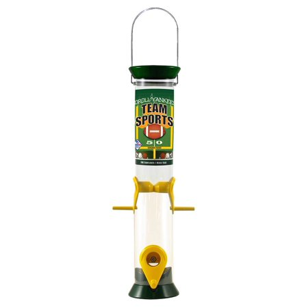4-Port Mixed Seed Feeder for Bird in Green and Yellow