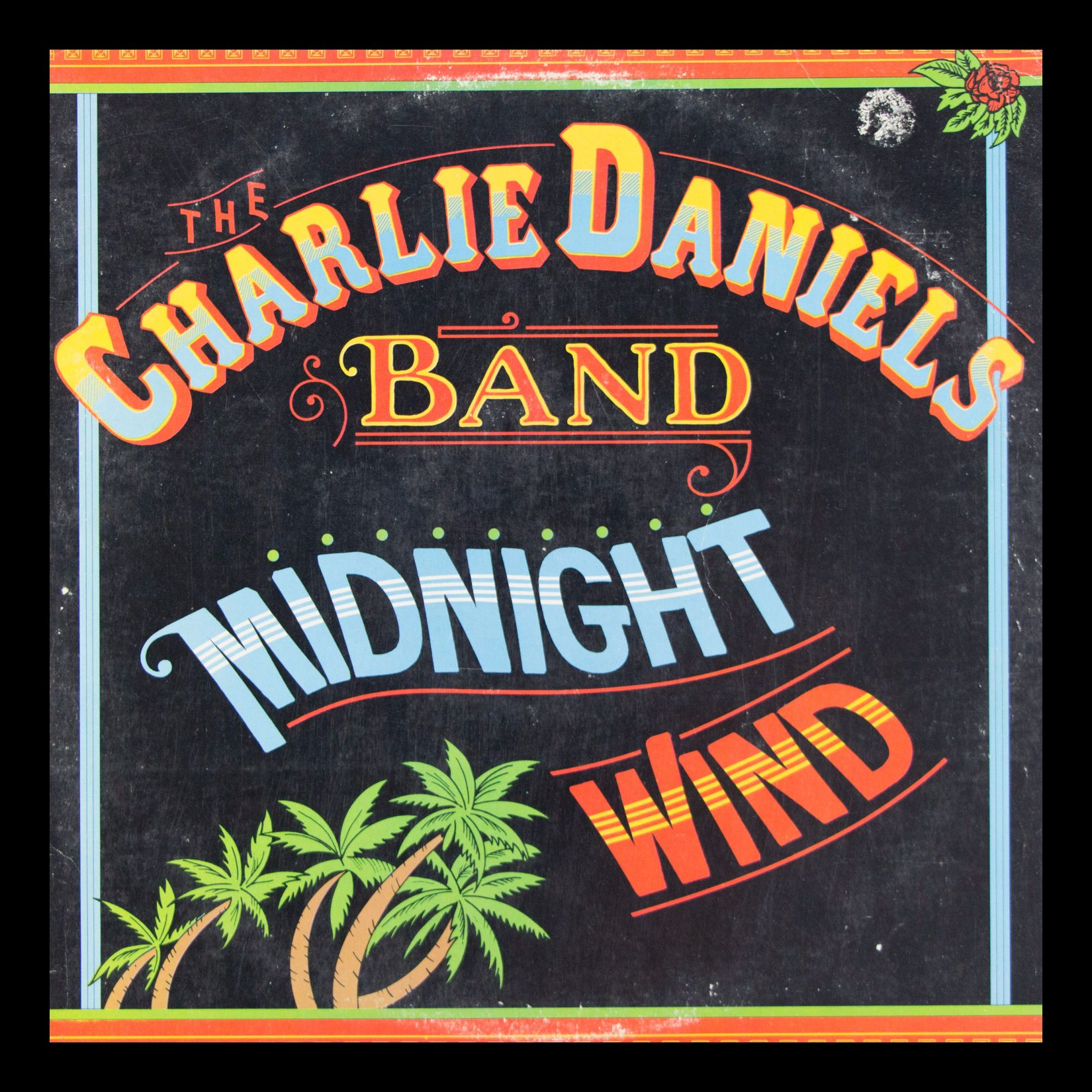 The Charlie Daniels Band Midnight Wind Vintage Album in Frame