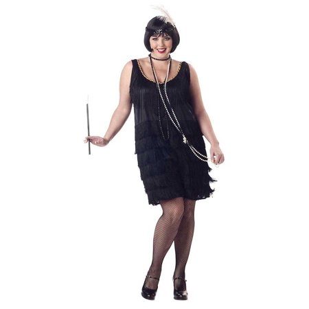 Adult Plus Fashion Flapper (3 Colors) Costume Charades 1119 - Halloween Charades List