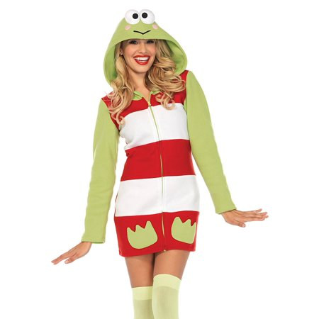 Keroppi Cozy Cozy Fleece Dress w/ hood