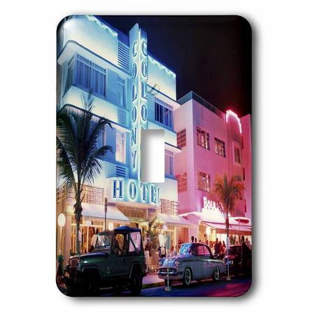 3dRose South Beach Miami - Single Toggle Switch