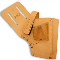 """ToolUSA 12.5"""" Leather Drill Holster With 7"""" Pocket For Your Tool Belt: AT005-H124"""