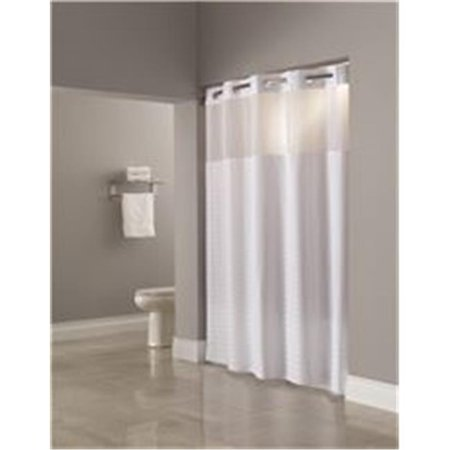 Hookless 3569424 Madison White Shower Curtain With Snap Liner 71 X 77 In
