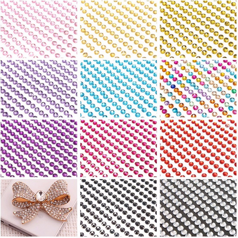 1Pcs 775Pcs Self Adhesive Diamante Stick On Bling Rhinestones Crystals Gem Craft Card