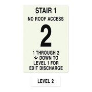 INTERSIGN NFPA-PVC1812(11N2) NFPASgn,StairId1,Roof Accss N,Flr Lvl 2 G0265356
