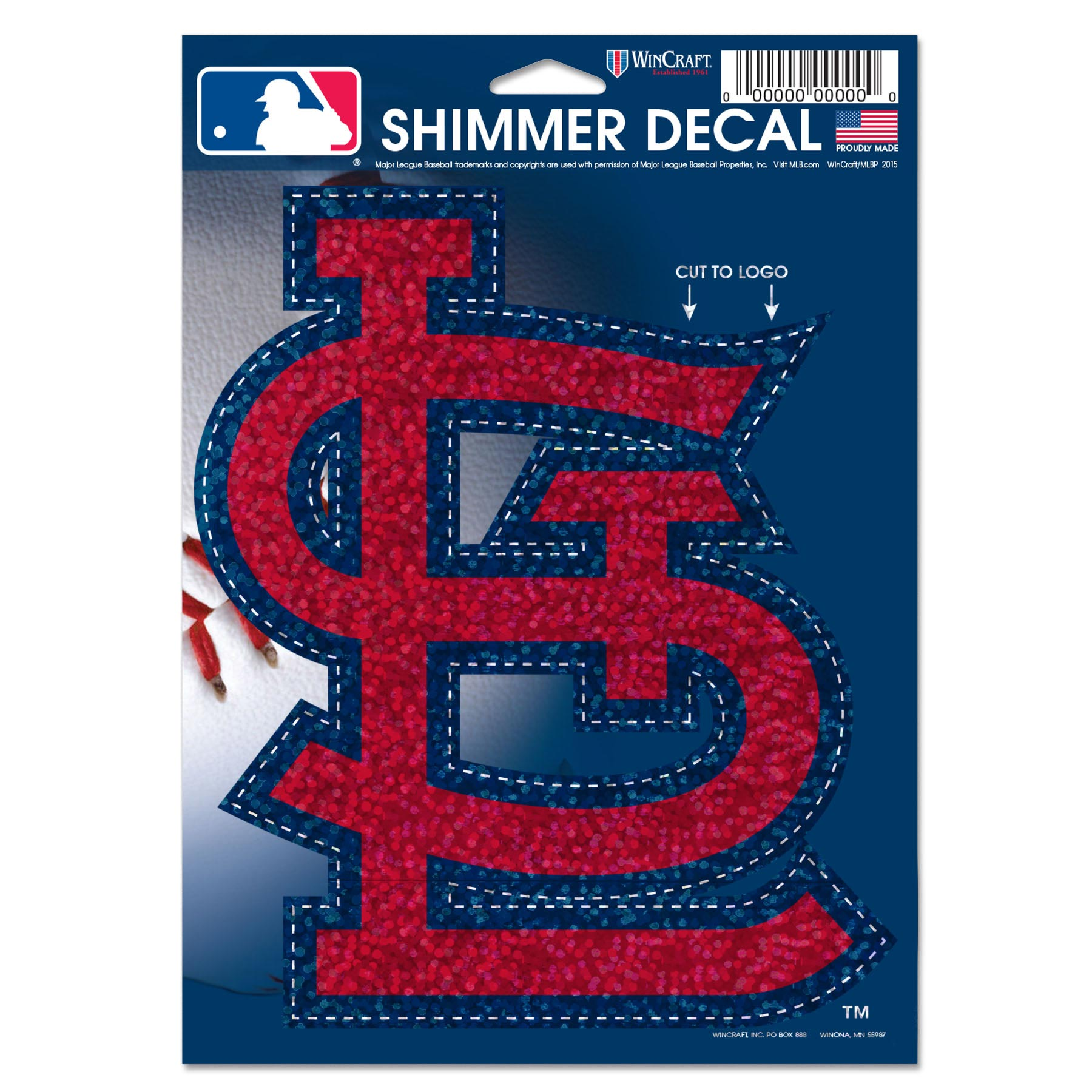 """St. Louis Cardinals WinCraft 5"""" x 7"""" Shimmer Decal - No Size"""