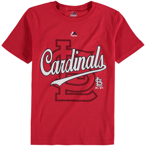 Youth Majestic Red St. Louis Cardinals At the Game T-Shirt