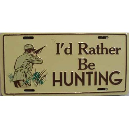 Lp 300 i d rather be hunting license plate 137 for Fishing license va walmart