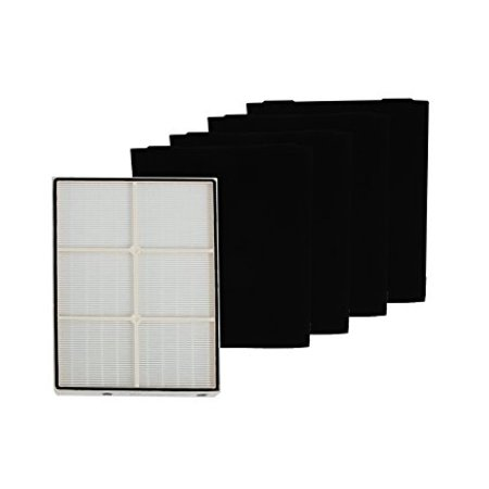 1 X Whirlpool 1183054K (1183054) HEPA Filter + 4 Pre-Carbon Filters-- Fits Whispure Air Purifier Models AP450 and AP510 AP45030HO; ()