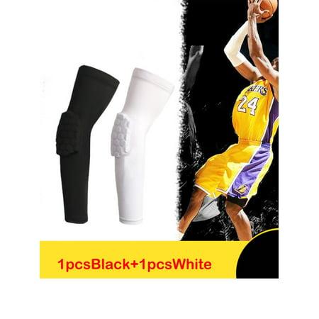 NK SUPPORT Hex Honeycomb Crashproof Baseball Basketball Arm Sleeve Pair Elbow Pad - Adult Size M/L/XL/2XL ()