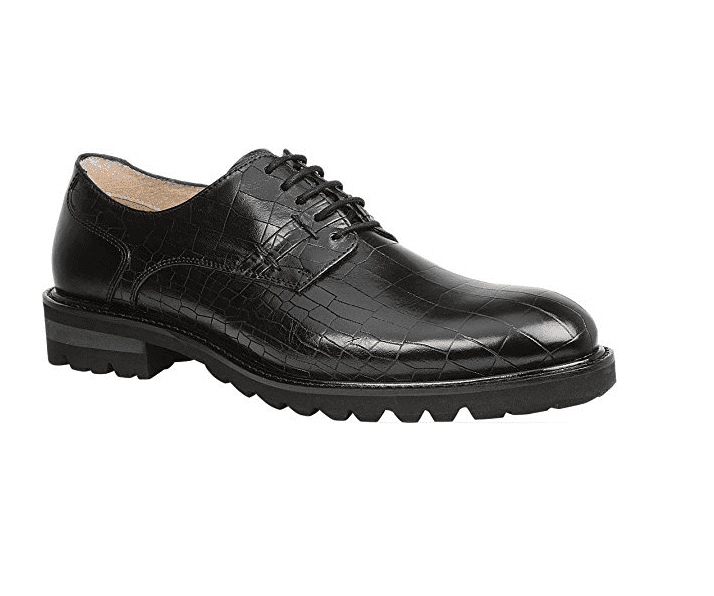 GBX BRENNER Mens Black Leather Casual Dress Lace Up Oxfords Shoes by GBX
