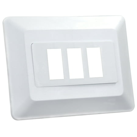 Junior Faces - JR Products 13625 Switch Base and Face Plate - Triple