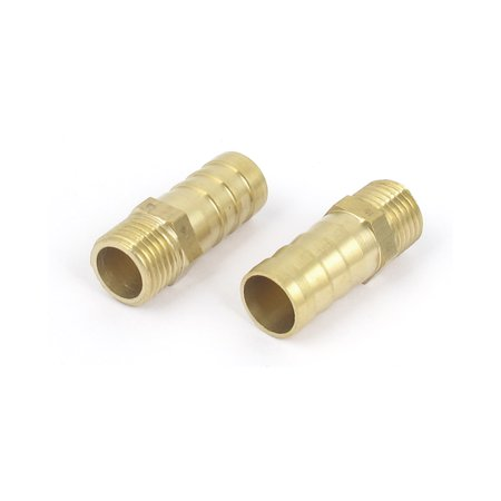 Brass 1/4BSP Male Thread to 12mm Hose Barb Straight Fitting Adapter Coupler 5PCS