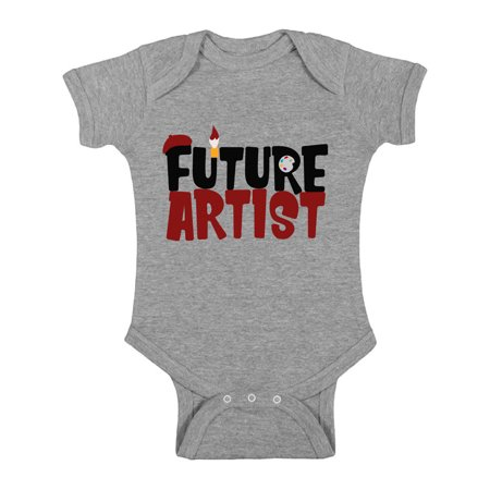 Awkward Styles Future Artist Bodysuit Short Sleeve for Newborn Baby Gifts for 1 Year Old Cute Arttist One Piece Top for Baby Boy Cute Arttist One Piece Top for Baby Girl Art Lover Gifts