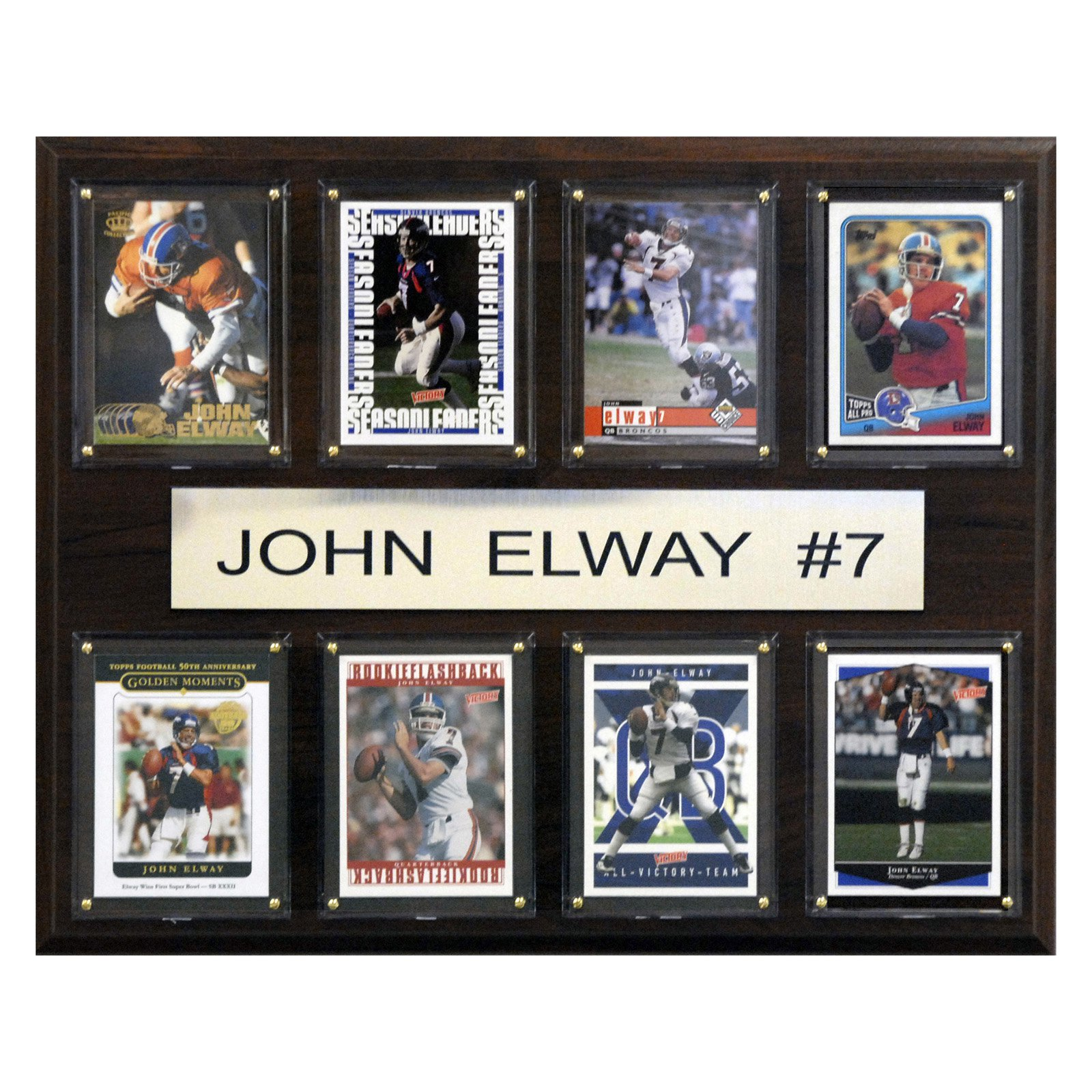 C&I Collectables NFL 12x15 John Elway Denver Broncos 8-Card Plaque