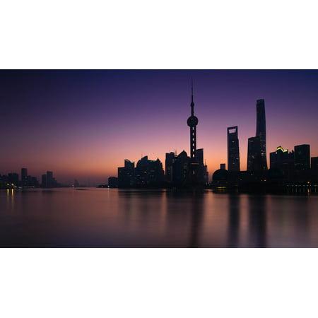 Peel N Stick Poster Of Sunrise Huangpu River Shanghai Poster 24x16