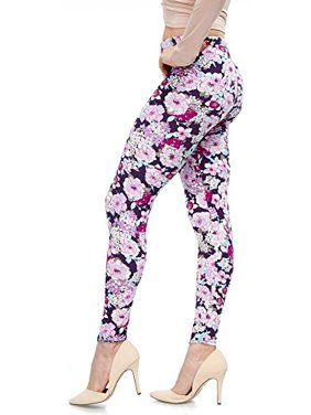 40b9054d53753 Product Image LMB Lush Moda Extra Soft Leggings with Designs- Variety of  Prints - 703F Purple Floral